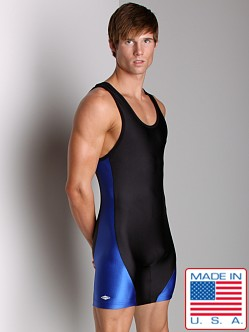Matman Illinois Singlet Black/Royal