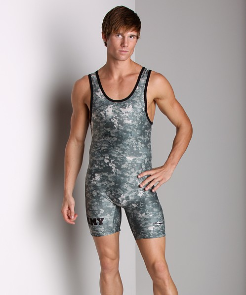 Matman Green Camouflage Army Singlet