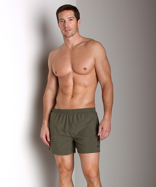 Hugo Boss Octopus Swim Shorts Olive
