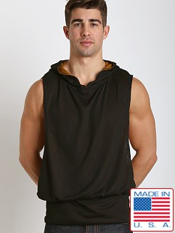 LASC Raw Sleeveless Hoodie Black/Gold
