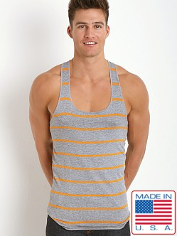LASC Striped String Tank Top Grey/Orange