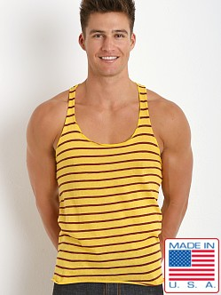 LASC Striped String Tank Top Burgundy/Gold