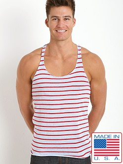 LASC Striped String Tank Top Sky/Red
