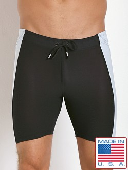 LASC Gym Short Tight Black/Silver