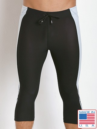 LASC 3/4 Gym Short Tight Black/Silver