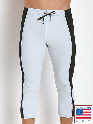 LASC 3/4 Gym Short Tight Silver/Black