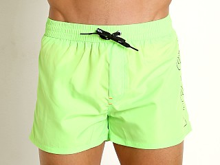 Diesel Sandy Logo Swim Shorts Neon Green