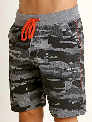 Diesel Camo Pan Lounge Shorts Dark Grey Melange