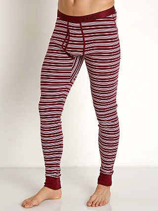 Complete the look: 2xist Essential Long John Candy Cane/Tawny Port/White