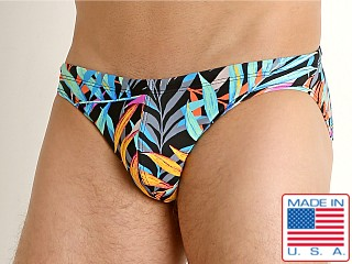 LASC St. Tropez Low Rise Swim Brief Navy Leaf