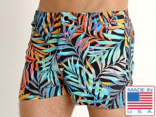 LASC Malibu Swim Shorts Navy Leaf