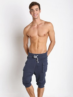 2xist Active Core Cargo Cropped Pant Denim Heather