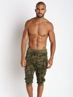 2xist Active Core Cargo Cropped Pant Olive Camo