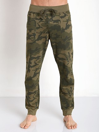 2xist Active Core Terry Sweatpant Olive Camo