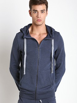 2xist Active Core Terry Zip-Up Hoodie Denim Heather
