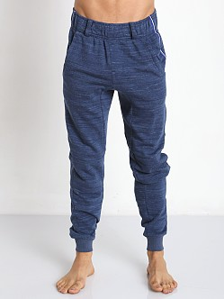 2xist Authentic Marl Stripe Sweatpant Cobalt Heather