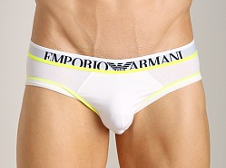 Emporio Armani Fashion Fluo Stretch Cotton Brief White