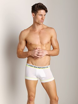 Emporio Armani Fashion Fluo Stretch Cotton Trunk White