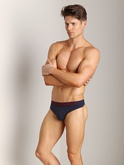 Emporio Armani Coloured Stretch Cotton Thong Marine
