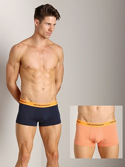 Emporio Armani Knit Trunk 2-Pack Marine/Peach