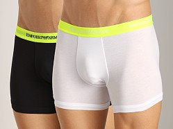 Emporio Armani Knit Boxer 2-Pack White/Black