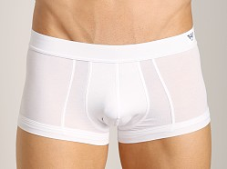 Emporio Armani Pima Cotton Knit Trunk White