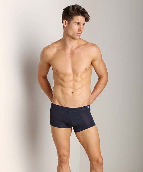 Emporio Armani Pima Cotton Knit Trunk Marine