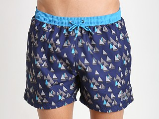 Hugo Boss Piranha Swim Shorts Open Blue