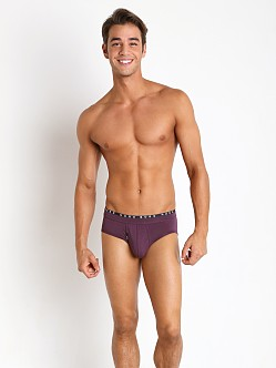 Hugo Boss Cotton Modal Hip Brief Dark Purple
