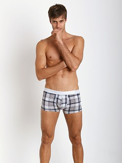 Hugo Boss Innovation 1 Cotton Stretch Boxer Grey Plaid