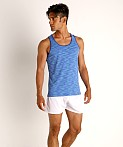 St33le Space Dye Mesh Stretch Tank Top Royal/Aqua, view 1