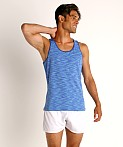 St33le Space Dye Mesh Stretch Tank Top Royal/Aqua, view 2