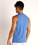 St33le Space Dye Mesh Stretch Tank Top Royal/Aqua, view 4