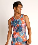 Timoteo Riviera Mesh Tank Top Flamingo Orange, view 3