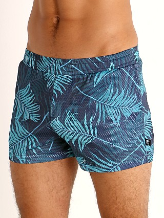 You may also like: Timoteo Riviera Mesh Short Palm Print Green