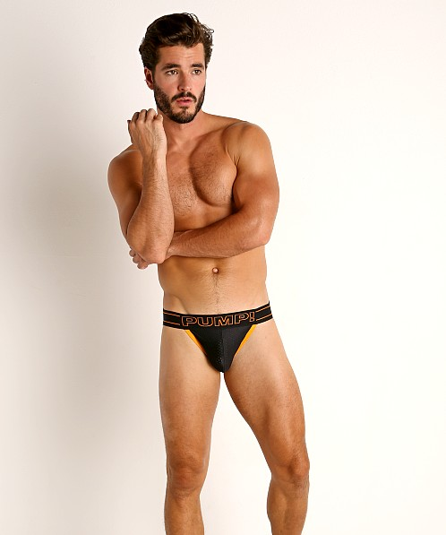 Pump! Nightlight Jockstrap Black/Orange