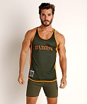 Pump! Squad Mesh Deep Tank Army/Orange, view 2