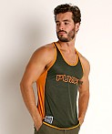 Pump! Squad Mesh Deep Tank Army/Orange, view 3