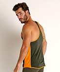 Pump! Squad Mesh Deep Tank Army/Orange, view 4