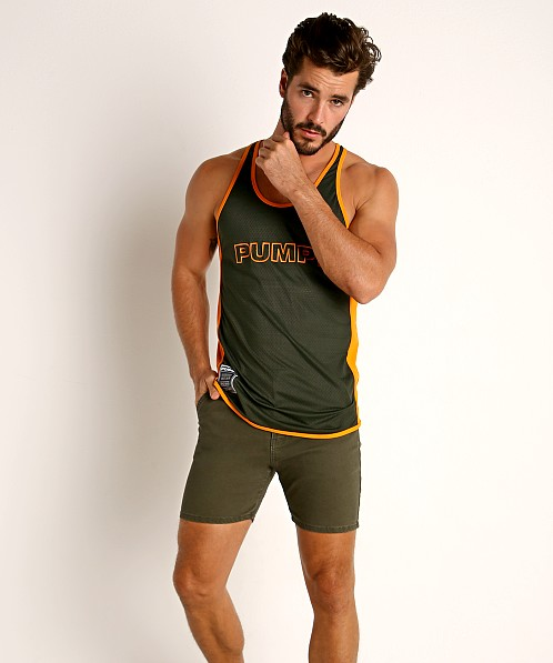 Pump! Squad Mesh Deep Tank Army/Orange