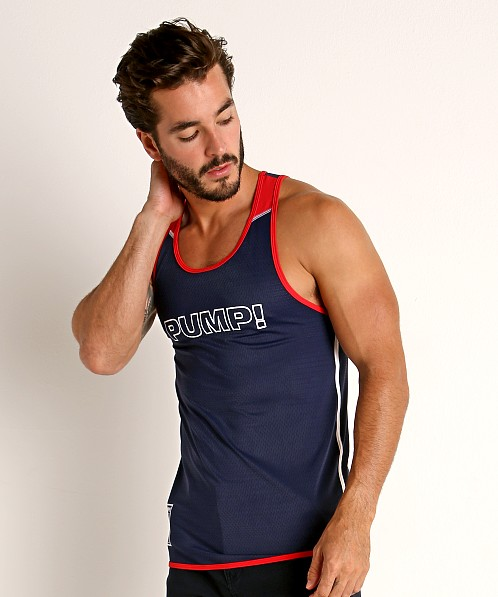 Pump! Academy Mesh Tank Navy/Red