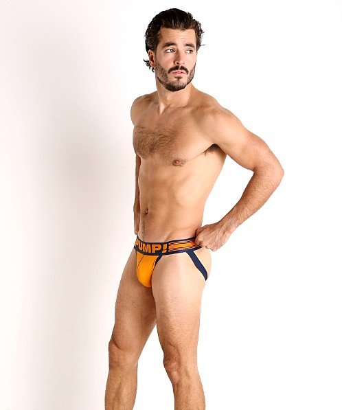 Pump! Varsity Micro Mesh Jockstrap Orange/Navy