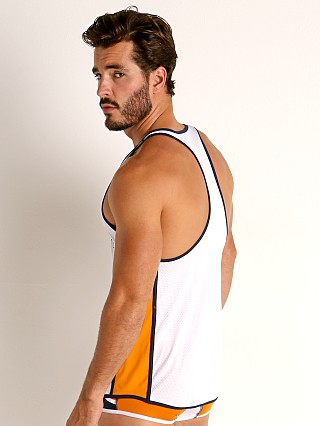 Complete the look: Pump! Varsity Deep Tank White/Orange