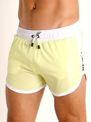 Model in lime Pump! Micro-Fiber Watershort Trunk