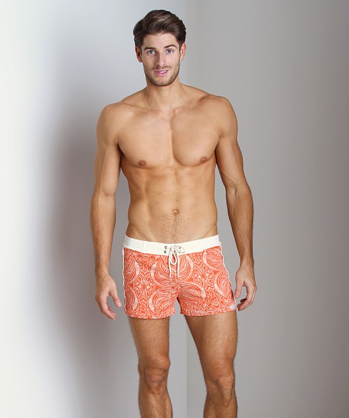 Sauvage Vintage Bali Swim Trunk Orange
