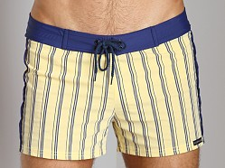 Sauvage St. Tropex Striped Swim Trunk Yellow/Navy