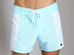 Sauvage Boardwalk Surf Trunks Mint/White