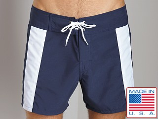 Sauvage Boardwalk Surf Trunks Navy/White