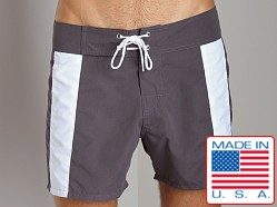 Sauvage Boardwalk Surf Trunks Charcoal/White