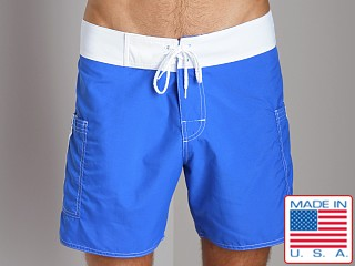Sauvage Pocketed Board Shorts Royal/White
